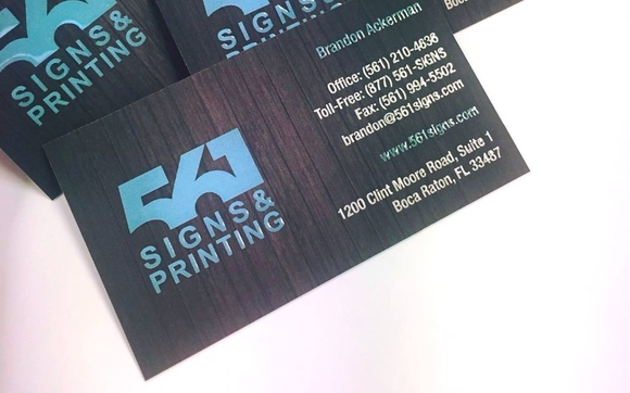 561 signs printing boca raton fl alignable business cards reheart