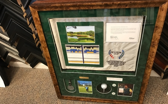 Shadowbox Framing By The Great Frame Up Iowa In West Des Moines