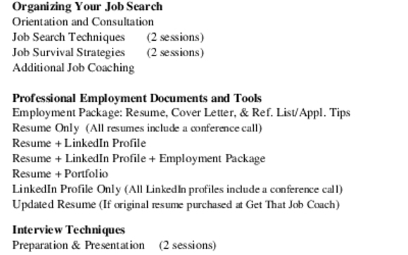 Job Search, Employment Package, Interview Prep and LinkedIn Profiles ...