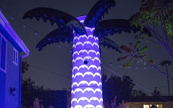 giant light up inflatable palm trees by crowdsync technology in los
