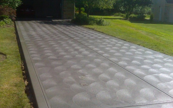 Hand Finished Concrete Driveway By Tomaro Construction Co Inc