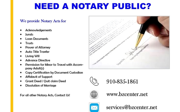 Notary Public Service by Biz Center Virtual Office LLP. in ...