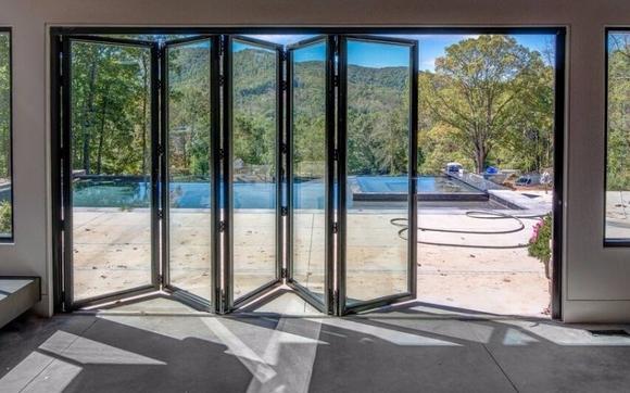 Our Customer Glass Bi-Folding Door by The Folding Sliding Door ...