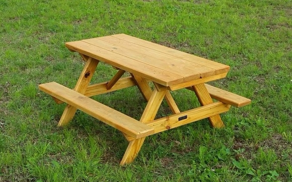 Kids Picnic Table Ft By Zookerman Woodworks In Poteau OK - Treated lumber picnic table