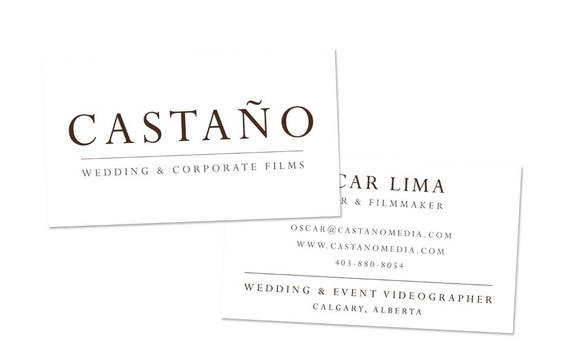 Logo business card for castano media by pink umbrella designs in logo design and business card design for castano media based in calgary alberta reheart Gallery