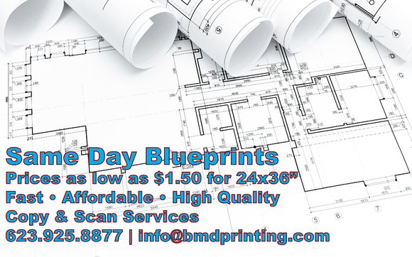 Blueprints by bmd printing business services in goodyear az contact bmd printing business services malvernweather Choice Image