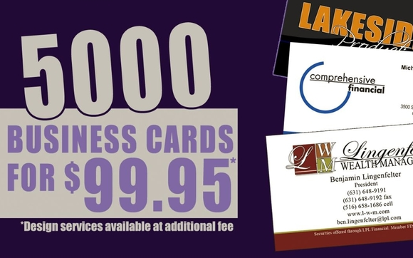 5000 standard business cards for 9995 by cs design apparel in thats right get 5000 standard business cards full color on both sides uv coating and all for only 9995 dont have a card designed or need a refreshed colourmoves