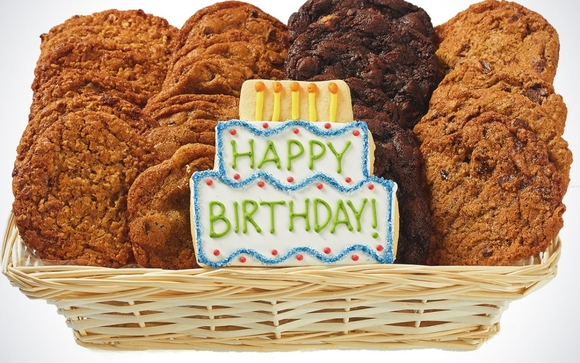 Happy Birthday Cookie Basket by Cookie Deliveryca Oakville in