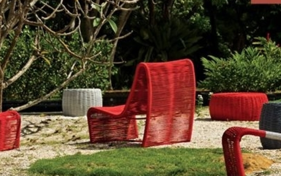 Handmade Brazilian Outdoor Furniture Using Nautical Rope, Hand Wrapped  Around Aluminum Frames That Are Powder Coat Finished In Over 40 Paint  Selections.