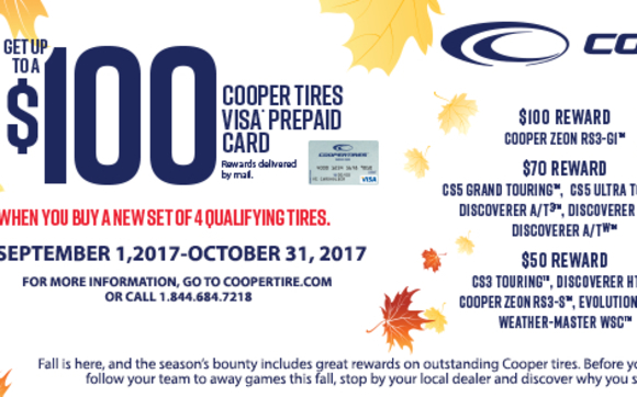 Cooper Tire Mail In Rebate By Websters Garage In Moravia Area