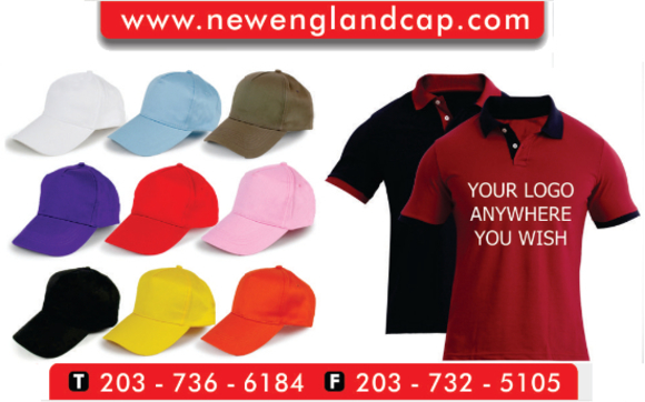Logo-ready apparel and embroidery services by New England Cap and ... a5923e7dcd7e
