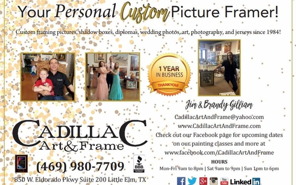 Custom Picture Framing Shop by CadillaC Art & Frame | You Bring It ...