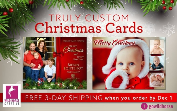 get truly custom christmas cards from wild horse creative for the same price or even less than sites like shutterfly and tiny prints order by dec - Custom Christmas Cards