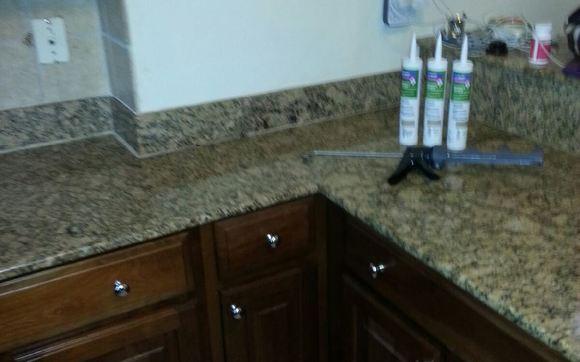 1454347086 counter top recaulk handyman drywall paint plumber hvac cooling freon emergency door window glass