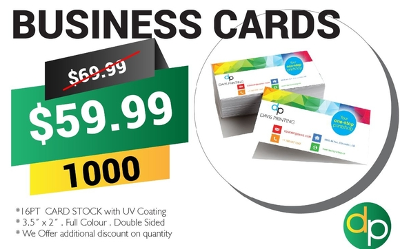 Make Your Own Custom Business Cards By Davis Printing Ltd In