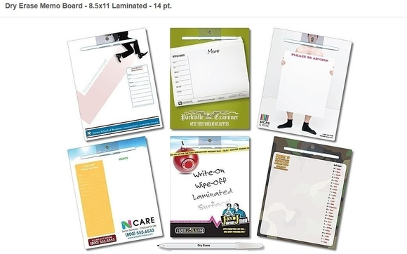 custom 8 5x11 full color magnetic memo boards starting at 1 50 by