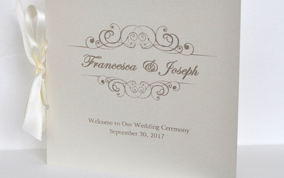 custom event and weeding programs by stuart printing in hobe sound