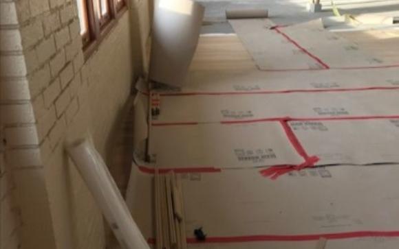 White Oak Wood Floor Installation In Progress By Gin Sue Enterprises