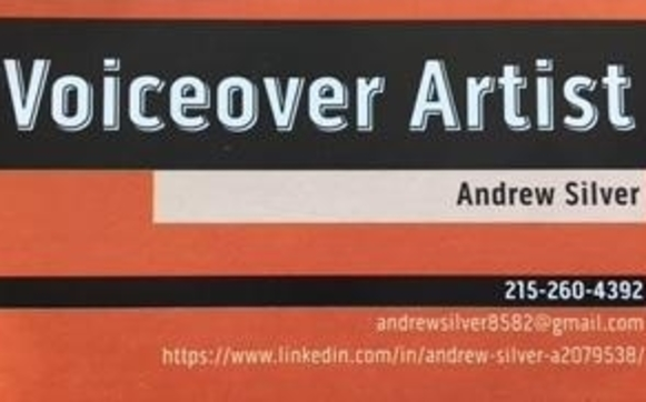 Business card by andrew silver voice artistactor in philadelphia my official business card colourmoves