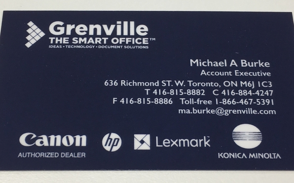 Business cards by grenville management in toronto on alignable 1517861518 business card reheart Images