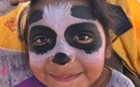 Face painting by top banana events in woodland park area alignable accomplished face painter creates works of art on faces arms hands let yourself be her canvas solutioingenieria Image collections