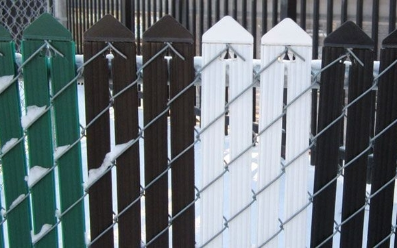 chain link privacy slats by webblink fencing ltd in drayton valley