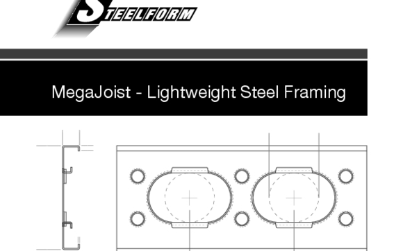 MegaJoist Cold Formed Steel Oval Punched Joists by Steelform USA LLC ...