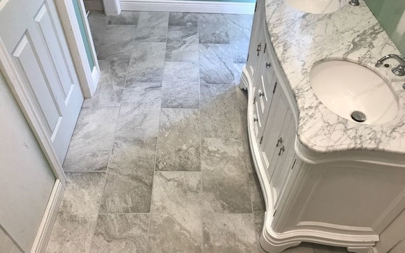 Mosaic Tile Floor Installation By Holmes Tile Stone In Southbury