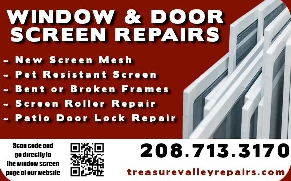 Window Patio Screen Repair By The Maintenance Shop In Meridian Id
