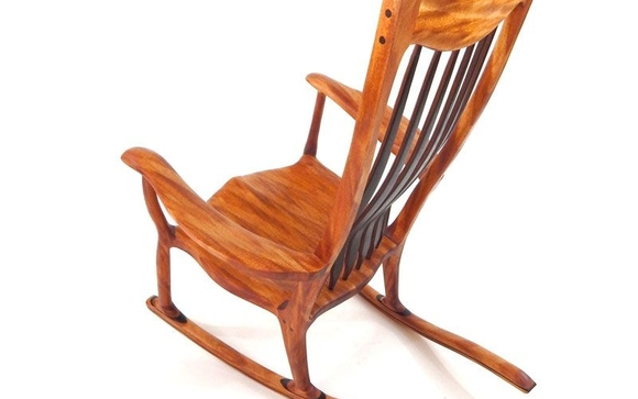 Merveilleux Exotic And Domestic Wood One Of A Kind Rocking Chairs, Like The One Shown  Here, Made Right In Sonoma County.
