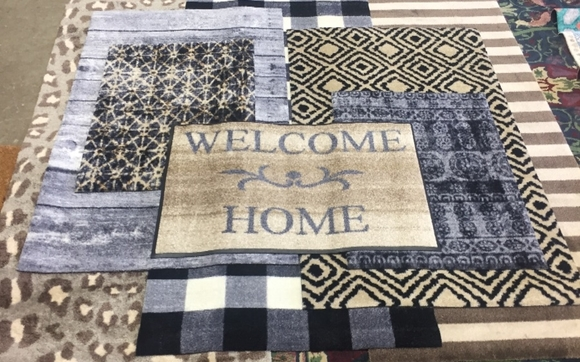 Washabe designer floor mats for the home by Kleen-Tex USA, LLC and on table cover for home, designer welcome mats, speakers system for home,