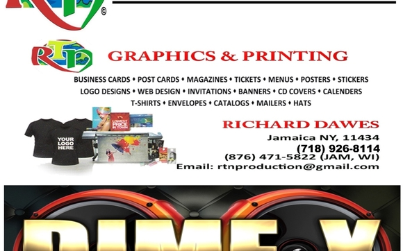 Djs for all occasion printng screenprinting vinyl embroidery contact rtn production network queens ny your name reheart Images