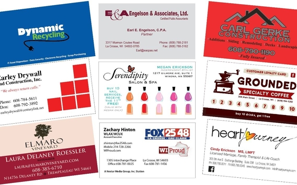 Business cards la crosse wi image collections card design and card business cards by express printing in la crosse wi alignable business cards to fit your business reheart Image collections