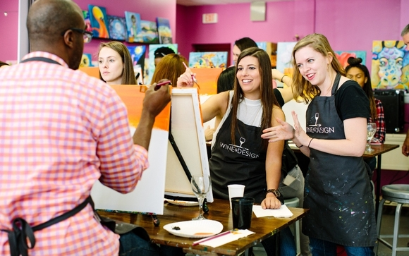 Paint And Sip Event By Wine And Design Stafford In Stafford Va