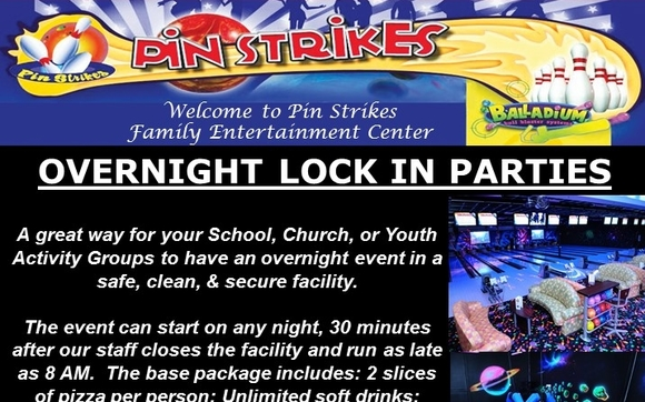 Overnight Lock In Parties By Pin Strikes Chattanooga TN