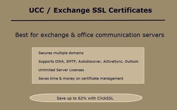 Exchange Server (UCC) SSL Certificates by ClickSSL in Newark, DE ...