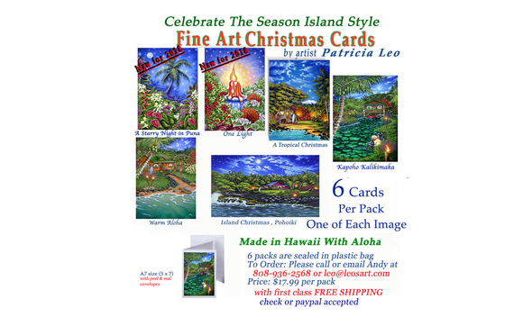 2018 Christmas Card Packs Online Sale By Patricia Leo Studio In