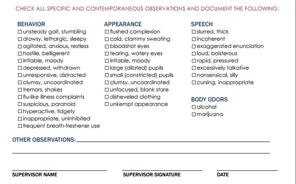 supervisor reasonable suspicion training for dot and nondot