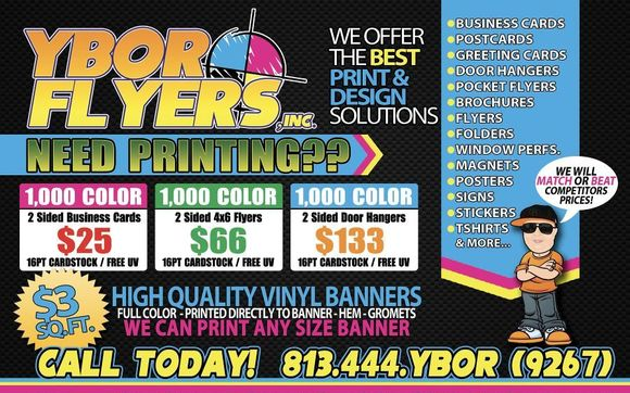 Full color printing by ybor flyers inc in tampa fl alignable contact ybor flyers inc reheart Images