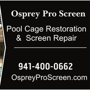 Mark Shannahan from Osprey Pro Screen- Pool cage screening, painting and renovation -sarasota venice