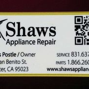 Curtis Postle from Shaw's Appliance Repair