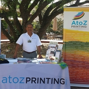 """Yo Adrian"" Sanchez  714-319-9930 from A to Z Printing"