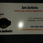 Auto Aesthetics, LLC, Pottstown PA